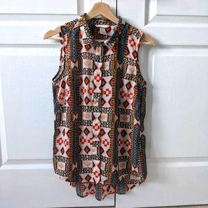 H&M sleeveless print blouse - US 4